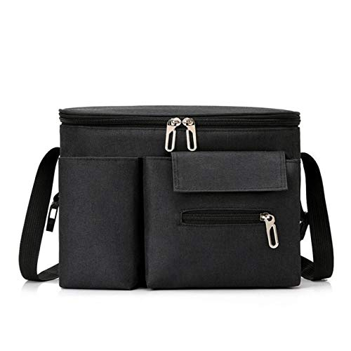 XMYNB Bolsa de almacenamiento para cochecito de bebé, impermeable, portátil, bolsa de pañales para cochecito, organizador de alta capacidad - negro - A