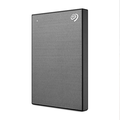 Seagate One Touch, 2 TB, Unidad Disco Duro Externa, Gris Espacial, USB 3.0, PC, Mac, Ordenador, 1 año MylioCreate, 4 meses Plan Adobe Creative Cloud Photography, 2 años servicios Rescue (STKB2000404)