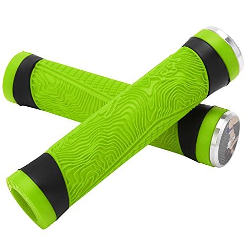 Coprimanico per bicicletta, Impugnatura antiscivolo MTB per bicicletta Impugnature in silicone Silicone per Mountain bike per Regali di Natale per gli amanti del ciclismo per Bicicletta per(verde)