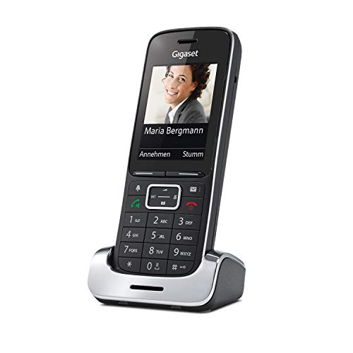 Gigaset SL450HX Universal-Mobilteil - Schnurloses IP-/Design Telefon (zum Anschluss an Basisstation oder Router, mit exzellenter Sprachqualität und großem Farbdisplay) schwarz