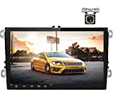 """Double Din Car Stereo Android 8.1 Car Radio 9"""" Touch Screen for VW"""