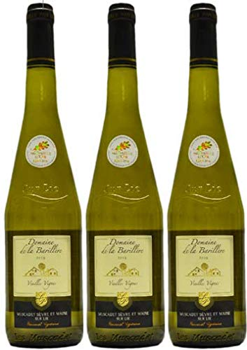 Muscadet sur Lie 2019, Vieilles Vignes, Vin Blanc, par lot de 3 bouteilles de 75cl