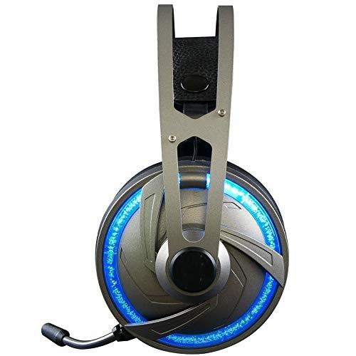 Ouuuager-Home Gaming-koptelefoon met 7.1-kanaals USB-aansluiting, RGB in-ear stereo koptelefoon voor laptop, tablet, Mac, iPad