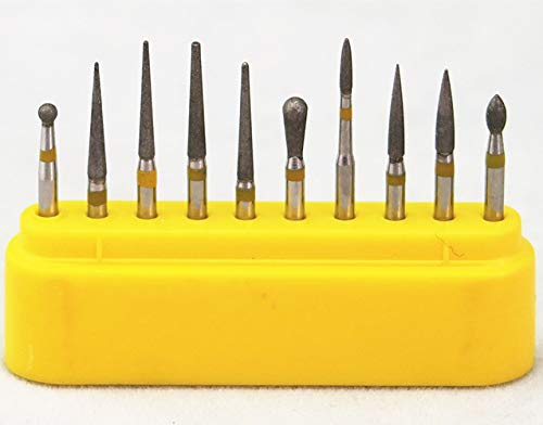 10pcs Diamond FG High Speed Burs Drill for Polishing Ceramic Composite