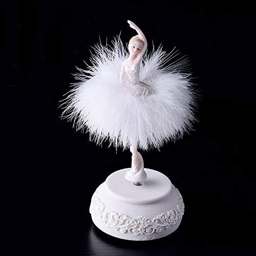 Sungmor Musical Box met Charmante roterende ballet meisje beeldje - Premium hars dansen ballerina prinses met mooie kostuum - geweldig cadeau voor meisjes kamer