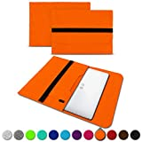 UC-Express Sleeve Hülle kompatibel für Trekstor Primebook C13 / P14 / P13 / P14B Tasche Filz Notebook Cover 13,3-14 Zoll Laptop Hülle, Farben:Orange