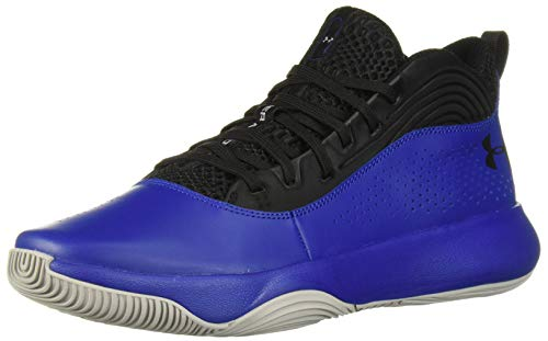 Under Armour Men's Lockdown 4 Basketball Shoe, Black (002)/Royal, 12.5