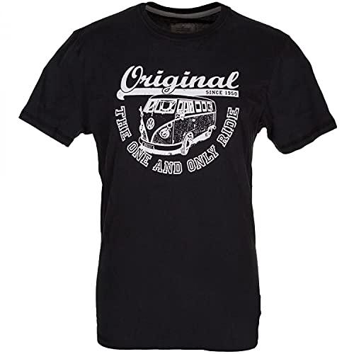 Van One Classic Cars Herren Original Ride Bulli T-Shirt, Black/White, XL
