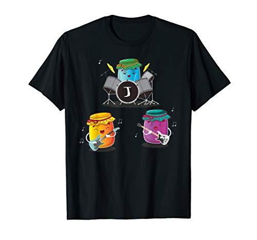 Jam Session - Proberaum Gitarre Bass Schlagzeuger Band T-Shirt