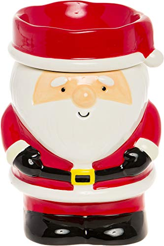Mindful Design - Holiday Themed Santa Claus Electric Wax Warmer - Light-Up Christmas Pluggable Home Fragrance Wax Melter for Home and Office