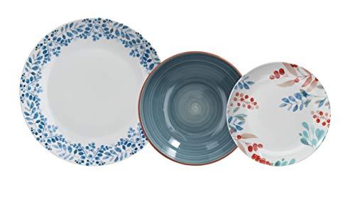 Tognana Vajilla 18 piezas Sophy, porcelana, multicolor