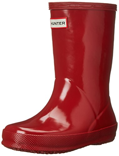 Hunter Original Kids First Gloss Wellington Botas - Militar Rojo
