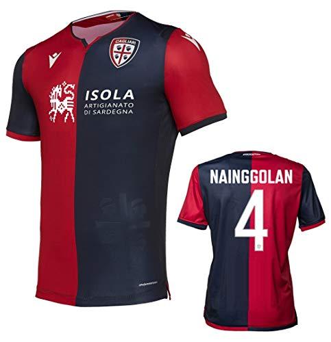 Soccer Jersey Cagliiti Trikot Nainggolan Autentica Gara Home 2019-20 Slim Fit, Rosso-blu, XXL