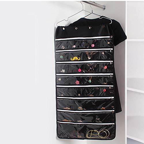 Schmuckständer Organizer Sided Taschen Verzierungen Dicke Transparente PVC Oxford Alhambra Registerkette Oben Zugänglich Zellulären Kunststoff-Fenster Reise Ohrringe Halskette Hängen Schmuck Speichero