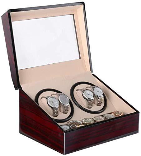 FEE-ZC Caja de Reloj, Caja de Reloj, Dispositivo de Mesa Motor de Sacudida de enrollador eléctrico Caja de Reloj de bobinado automático, Caja de Reloj de Doble Cabezal, Caja 4 + 0 agitador eléctrico