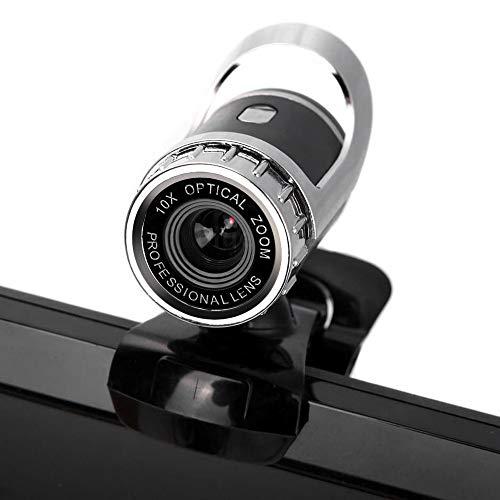 Escape Park - Webcam 4k 480p cámara web cámara PC cámara con micrófono de clip para PC, portátil, micrófono integrado de absorción de sonido claro integrado