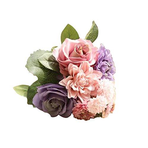 Kunstblumen, Künstliche Pflanze Künstlich gefälschte Blume Rosenknospe Rose 30cm Seidenblume faltbar für Hochzeiten/Garten/Party/Hochzeit/Blumendekoration 1Pcs