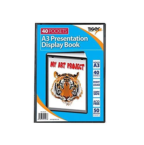 Tiger Sichtbuch, Format: A3, 40 Klarsichthüllen, Schwarz
