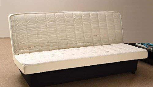 Matelas Clic Clac 130x190 Latex Naturel de densité 80 Kg/m3 et Mousse Poli Lattex Indéformable Tissu Strech très résistant - Hauteur 15 cm - Soutien Ferme - Orthopédique GOLD15 (130x190) 130 190