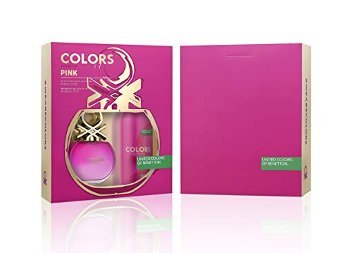 Benetton Colors Pink Kit - EDT 80ml + Desodorante Kit