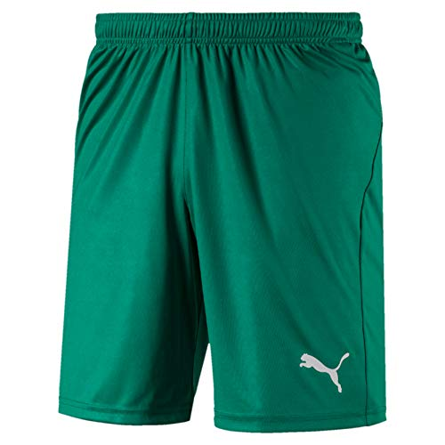 PUMA Herren Liga Shorts Core with Brief Hose, Pepper Green White, XXL