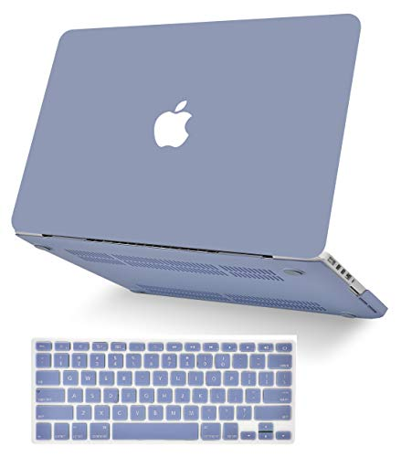 KECC Laptop Case for Old MacBook Pro 13' Retina (-2015) w/Keyboard Cover Plastic Hard Shell Case A1502/A1425 2 in 1 Bundle (Lavender Grey)