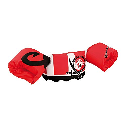 Coleman Polyester Arm Bands Puddle Jumper Pirate, Toddler Swimming Aids & Float Discs, for 2-6 Year Old, 15-30Kg (Red) (2000027898)