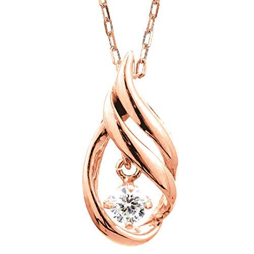 [ココカル]cococaru 一粒 ダイヤモンド ネックレス k18 イエローゴールド/ホワイトゴールド/ピンクゴールド 品質保証書 金属アレルギー 日本製(ピンクゴールド)