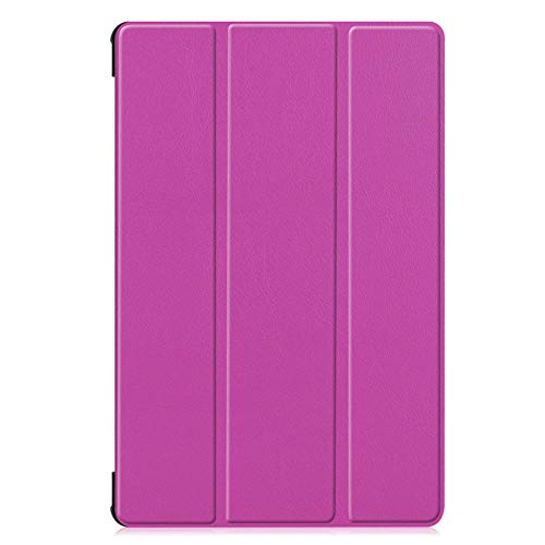 Trifold bracket flat cover, suitable for Samsung Tab S6 Lite P610/P615 flip cover sleep-purple