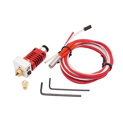 WINSINN 3D Printer CR-10 Hotend Extruder Kit - 0.4mm Copper Nozzle CR10 for Creality CR-10 CR-10S S4 S5 1.75mm Filament