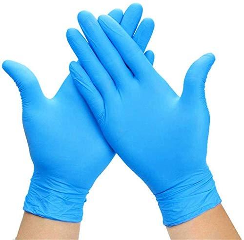 Nitril Einweghandschuhe Premium in Größe M | 100 Stück | Einzelhandschuhe Blau in praktischer Spenderbox | Ideal für Hygienebereiche - wie Lebensmittelbranche, Kosmetik UVM (M)
