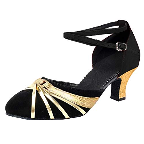 TRIWORIAE-Zapatos de Baile Latino Danza Moderna de Tac/ón para Mujer