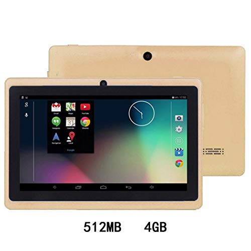 dozenla Kids Tablets PC, 7 inch Android Kids Tablet with 512MB Ram 4/8GB ROM, Safety Eye Protection IPS Screen, Android Quad-core, Dual Cameras, Bluetooth,WiFi, Best Gift for Children
