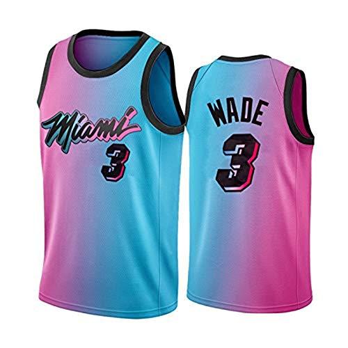 MLKL Wow-Wade 3# Pensionen Basketball-Trikots, die Flash-Hitze 2021 Neue Saison Basketball-Hemd, D-Wade-Sportfans Training Weste Geschenk blau rosa Mesh-Tops Blue Pink-XXL