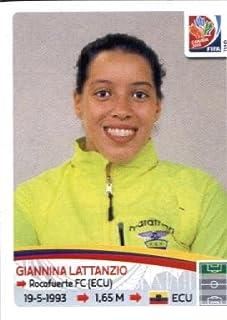 2015 Panini Women's World Cup Sticker #246 Giannina Lattanzio TEAM ECUADOR