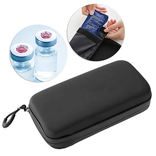 Insulin kühltasche Reise Tasche, Tragbarer Diabetiker Insulin Kühlbeutel Organizer Medical Insulation Cooling Travel Case für Diabetiker (Schwarz)