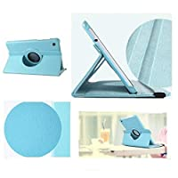 windykids Huawei MediaPad T1 7.0 ケース Huawei MediaPad T1 7.0 LTE カバー ブルー 3点セット 保護フィルム タッチペン スタンドケース 360度回転式 スタンド ブルー(水色) ブルー(水色) ブルー(水色)