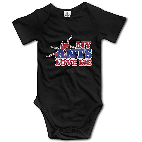 My Ants Love Me Newborn Baby Boys Girls Soft Short-Sleeve Bodysuit Romper Outfits