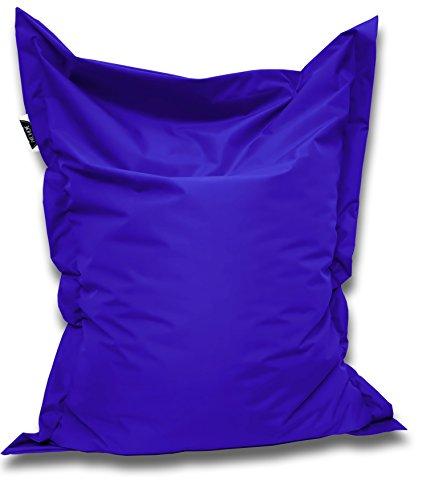 Patchhome Sitzsack und Sitzkissen Eckig - Blau - 100x70cm - in 25 Farben und 7 versch. Größen