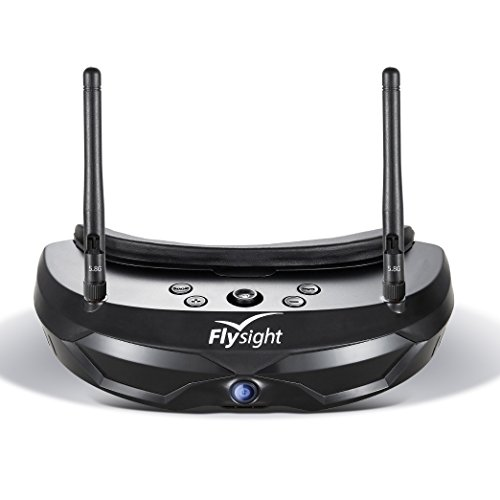Flysight FPV Goggles 5.8Ghz Diverity Video Goggles SPX02 40CH Wireless RC Drone Racing Goggles with HDMI In and Pip Function Compatible with DJI(SMA ANT)