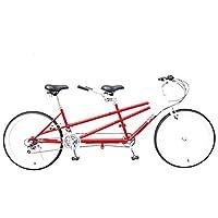 自転車26インチ親子自転車レジャー多人用自転車可変速自転車カップルタンデムトラベル自転車,赤