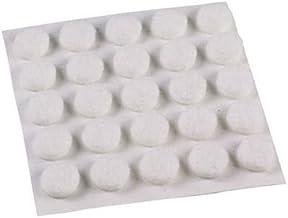 Shepherd Hardware 9957 3/8-Inch Self-Adhesive Felt Furniture Pads, 75-Pack, White