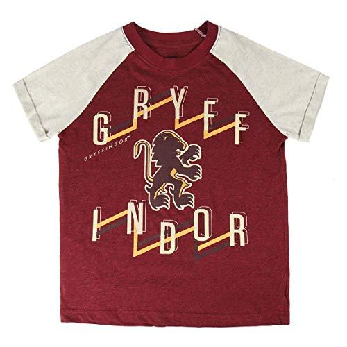 Camiseta Harry Potter, Camiseta para Niños Gryffindor, Diseño de Algodón Suave, Jersey de Manga Corta Unisex, Regalo para Niños y Adolescentes, 8 a 14 Años (8 Años, Rojo)