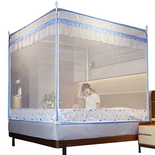 Bed luifel gaas tent voor grote/kingsize bed slaper stapelbed gordijn student slaapzaal muggennetten beddengoed tent paars