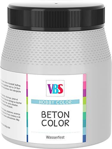 VBS Betonfarbe Beton-Optik Beton Color speichelecht Schabby Chic Vintage Landhaus wasserfest 250ml Dunkelgrau