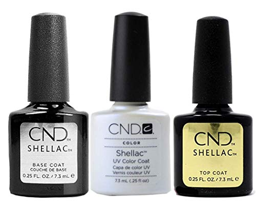 CND Original CND Shellac Negligee plus Base Coat plus Top Coat 7.3 ml, 1er Pack (1 x 22 ml)