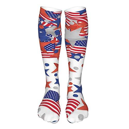 LLOOP Calcetines 3D estilo vintage grueso cálido invierno bandera americana calcetines casual para mujeres y hombres
