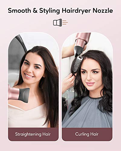 KIPOZI Negative Ions Hair Dryer Professional Salon Ionic Blow Dryer 1875 Watt Hairdryer with Concentrator Nozzle Attachment Ceramic Technology Powerful Fast Drying for Women, Packaging Vary