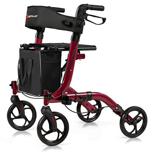 Why Choose Foldable Rollator Medical Walker with Adjustable Handle, Aluminum Alloy Frame, Lightweigh...