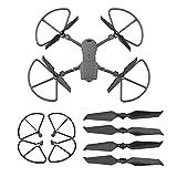 V-MAXZONE 4 unids hélice para DJI Mavic 2 Pro para zoom 8743F fibra de carbono apoyos de bajo ruido hoja ala protector protector drone accesorio protector para adultos niños